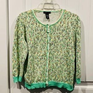 NY&C cardigan sweater, size l